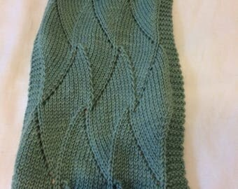 Soft and lightweight green scarf