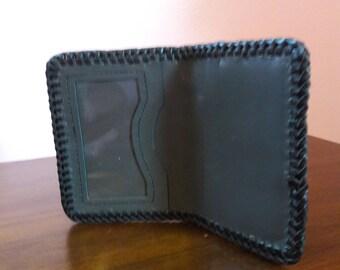 Handmade Black Ostrich ID Wallet