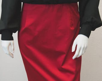 "The ""Red Pencil"" Skirt"
