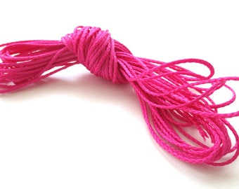Polyester yarn - cord pacifier 1.5 mm-Fuchsia