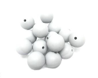 10 15mm - light gray Silicone beads