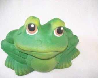 Frog,Toad,Ceramic Frog,Home and Garden Decor, Flower Garden, Yard Art,Fairy Garden