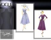 VOGUE 1044 sewing pattern.  Vogue Vintage Model Original 1956-1957 Design. Size 12-14-16.  New.  Uncut.  Factory folded.