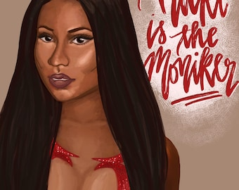 Nicki Minaj Queen Print