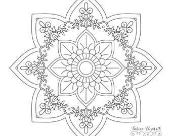 Mandala 4, clipart, digital drawing