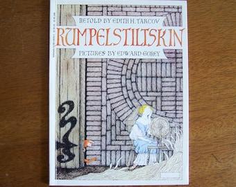 Rumpelstiltskin by Edith Tarcov - Pictures by Edward Gorey - Children's Book - Fairy Tale