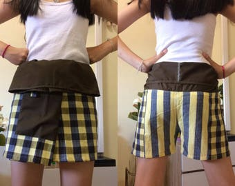 Discount 20%--Short Patchwork pants, Thai fisherman pants with 1 pocket, free size (see detail).(P.17)