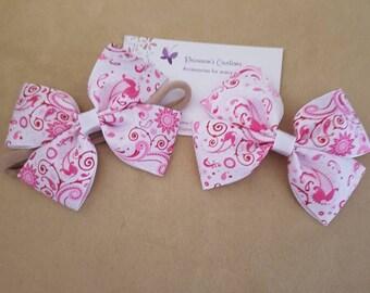 Paisley pink bow
