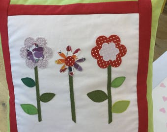 Handmade cushion cover,16 inches square.