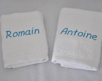 towel white custom embroidered