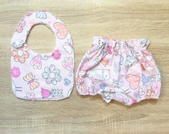 Bib and Highwaist Bloomer Set