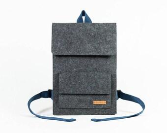 Backpack, men's backpack, backpack ladies, design backpack, fashion backpack, city backpack, gift, felt, felt, handmade [AMARU]