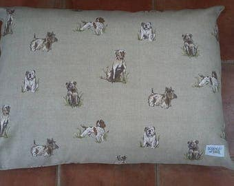 Small Luxury Pillow Dog Bed - Country Canine Collection from Designed for Dogs