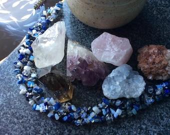 Lapis Lazuli - Natural stone necklace - Christmas Sale