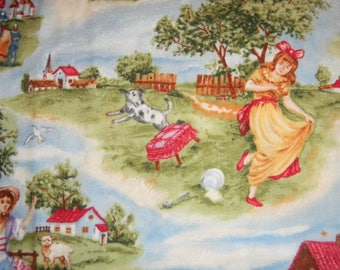 Story book themed nursery rhyme print by Timeless Treasures.  Characters from your favorite nursery rhymes!