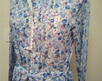 Long sleeve cotton shirt dress