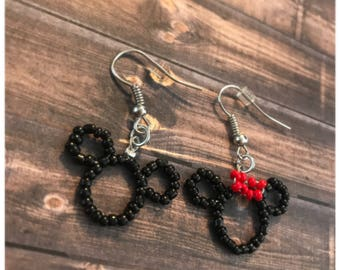 Mickey and Minnie Earring