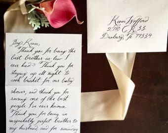 Wedding Affirmations: customizable, hand-calligraphed
