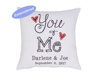 Pillowcases Embroidered You and Me, Anniversary Gift, Personalized Gift, Wedding Gift, Engagement Gift, Gift for Parents, Christmas Gifts