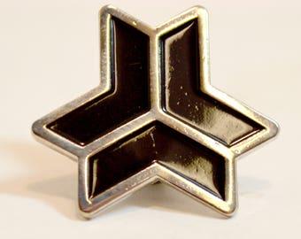 Freebord Logo Snowflake 1 inch Lapel Pin