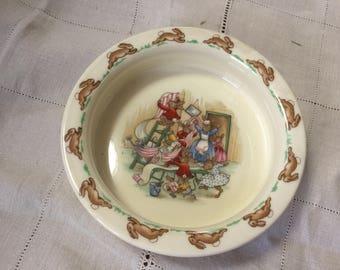 Royal Doulton Bunnykins porridge bowl
