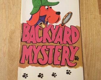 Backyard Mystery Vintage Children's Book
