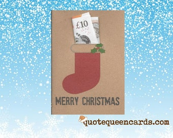 Christmas stocking money/voucher/gift/ticket wallet card & envelope for family and corporate gift ideas , Money Wallet