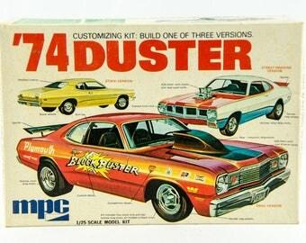 Ultra Rare Vintage MPC 74 Duster Customizing 3n1 1/25 Model Car 1-7426-250