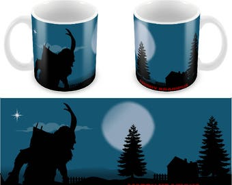 Krampus Christmas .  Ceramic Coffee Mug    Free Personalisation