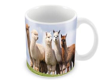 Alpaca  Ceramic Coffee Mug    Free Personalisation