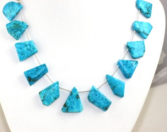 1 Strand Natural Turquoise Nugget Faceted Beads Size 15x19-21x25mm Approx,Turquoise Beads,Nuggets Beads,Faceted,Natural Stone,Beads (12 Pcs)