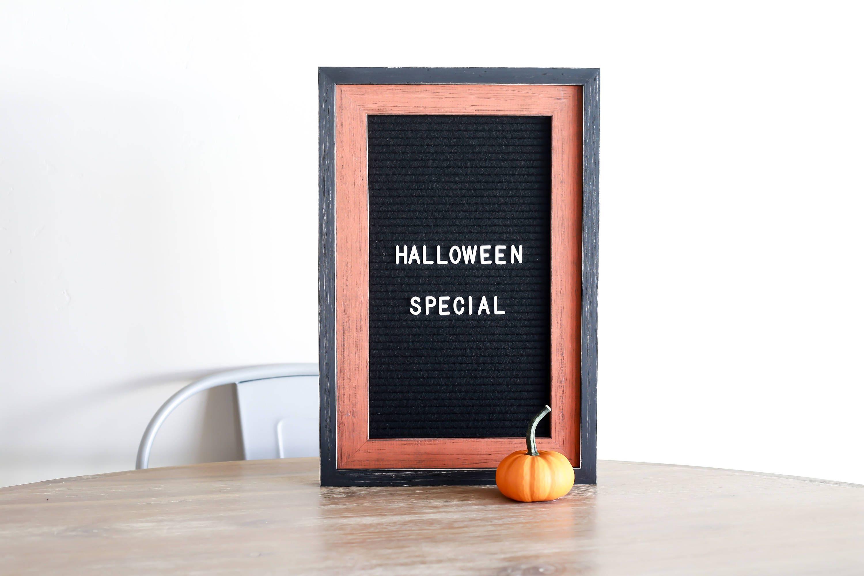 Letter board - 12x18 Black Felt - Halloween Special frame - The ...