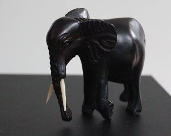 Hardwood carved elephant