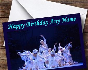Swan Lake Ballet Personalised Birthday Card