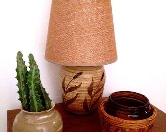 Vintage pottery lamp.