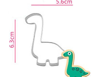 Brachiosaurus Dinosaur Cookie Cutter - Animal Fondant Biscuit Mold - Pastry Baking Tool Set