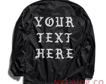 Custom Text Jacket