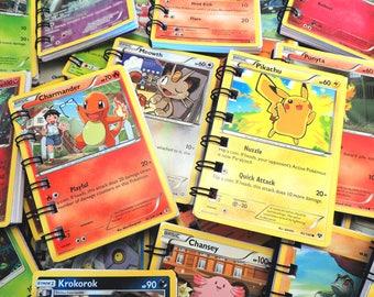 5 Pokemon Notebooks - Pokemon Party - Pokemon Birthday - Pokemon Card - Pokemon Gifts - Handmade from Upcycled Pokemon Trading Cards