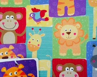 Animals Gift Wrapping Paper Lions Tigers Hippo Giraffe Bird