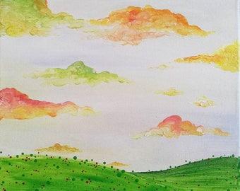 Original Acrylic Painting: Dream Up