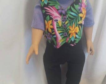 Fun tropical outfit for 18 inch doll