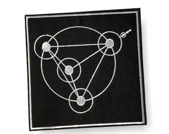 BIG ORBITAL patch, ironing fashion badge ca.130mm
