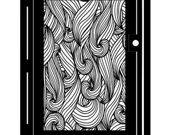 Decorative Steel Gate - Ocean Metal Art - Flow - Waves - Water Steel Gate - Sea Gate - Ocean Gate - Driveway Gate - Swirling Steel Panel Art