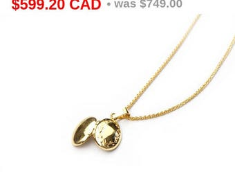 Gold Locket Necklace