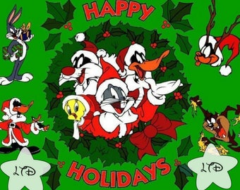 Looney Tunes Happy Holidays Iron On Transfer