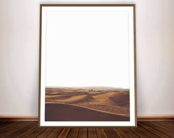 Desert Print * Landscape Print Minimalist Photography Desert art South Western Desert Decor Dunes Sand Art African Sahara Wilderness Decor