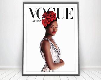 Vogue Africa Print * African Art Black Women Art Black Power Vogue Art Vogue Magazine African Wall Art Fashion Print Art Scandinavian Poster