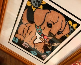 Paint By Numbers on Velvet Doggie Pictures