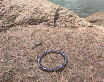 Iridescent stacking bracelet