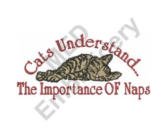 Cat - Machine Embroidery Design, Nap, Cat Nap